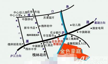金色豪庭(槐林)交通图