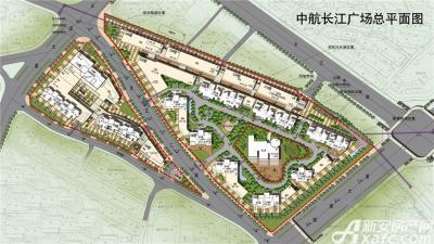 中航长江广场总平面图