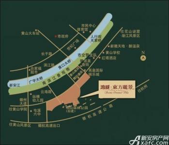 鸿威东方丽景交通图