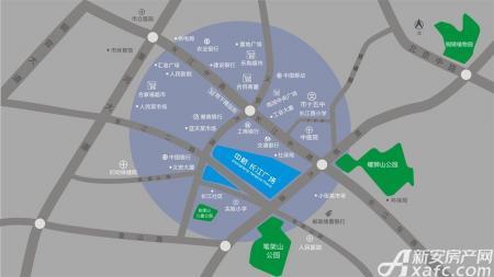 中航长江广场交通图