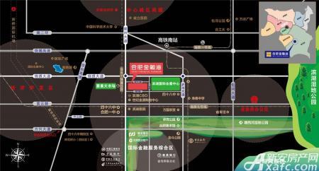 合肥金融港交通图