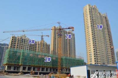 中辰一品中辰一品4月项目进度 2#楼建至地面4层以上