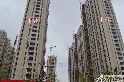 秀山信达城16#17#楼工程进度(2016-4-16)