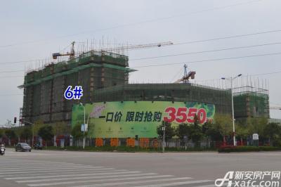 乐泽鑫城华纳橡树湾4月项目进度  6#楼建至地面9层