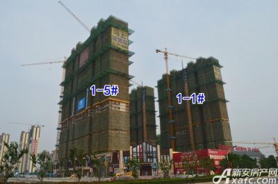 宿州万达广场宿州万达广场5月项目进度 1-5#、1-1#封顶