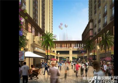 中航长江广场商业内广场透视图