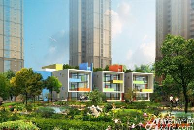 中航长江广场幼儿园及小区景观意向透视