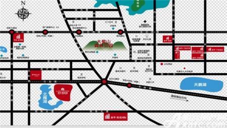 新华御湖庄园交通图