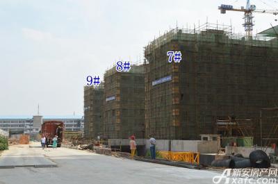 乐泽鑫城华纳橡树湾6月项目进度 多层封顶