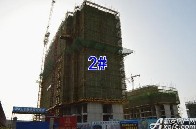 万成·哈佛玫瑰园万成哈佛国际6月项目进度 2#楼建至地上12层