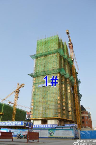 万成·哈佛玫瑰园万成哈佛国际6月项目进度 1#楼建至地上16层