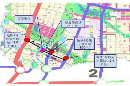 长虹世纪荣廷交通图