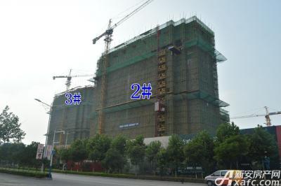 万成·哈佛玫瑰园万成哈佛国际7月项目进度 2#楼建至地上14层