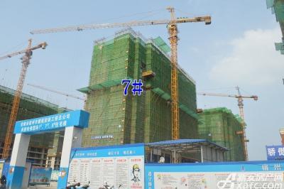 万成·哈佛玫瑰园万成哈佛国际7月项目进度 7#楼建至地上13层