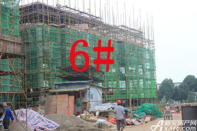 宇业天逸华府6#工程进度:已建至5层(2015.7.28)