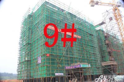 宇业天逸华府9#工程进度:在建墙体(2015.7.28)