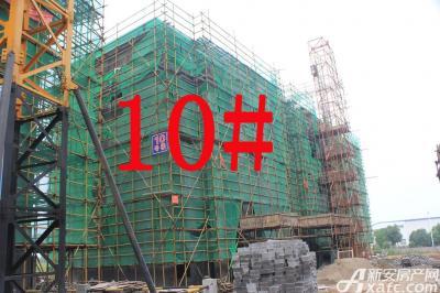 宇业天逸华府10#工程进度:在建墙体(2015.7.28)