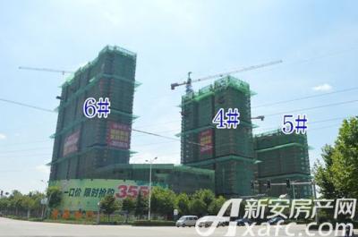 乐泽鑫城【华纳橡树湾】7月项目进度 高层6#楼建至地上23层
