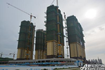 宿州万达广场宿州万达广场8月项目进度 一区住宅封顶