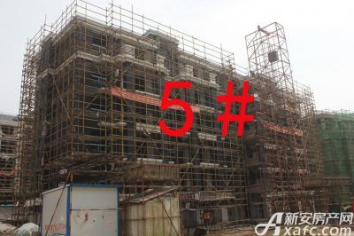 宇业天逸华府5#工程进度:外立面正在施工(2015.8.20)