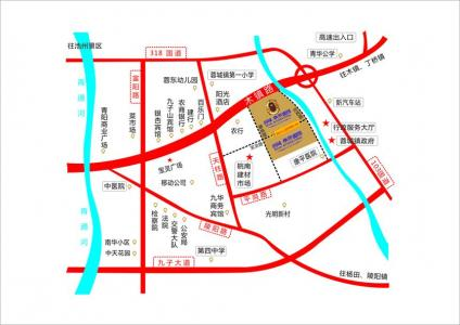 润城帝景国际交通图