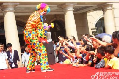 天景庄园业主答谢会—小丑赠气球(2015.09.26 )