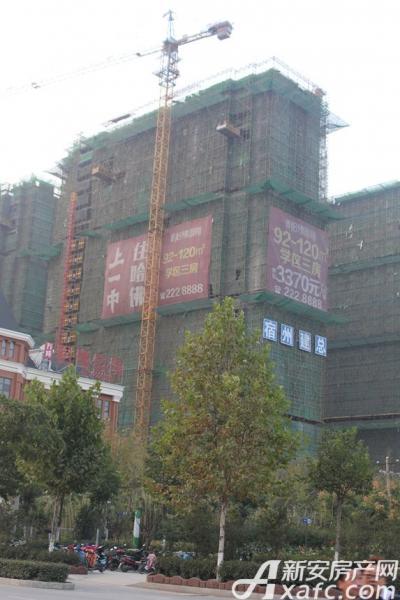 万成·哈佛玫瑰园万成哈佛国际10月工程进度