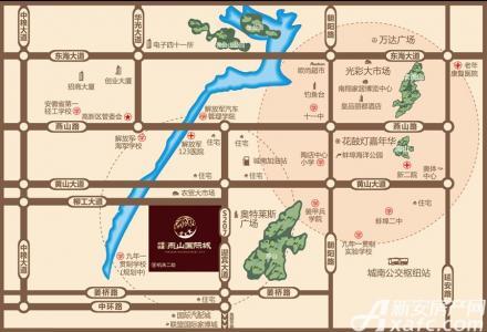 中国铁建燕山国际城交通图