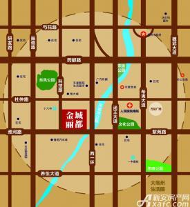 金城丽都交通图