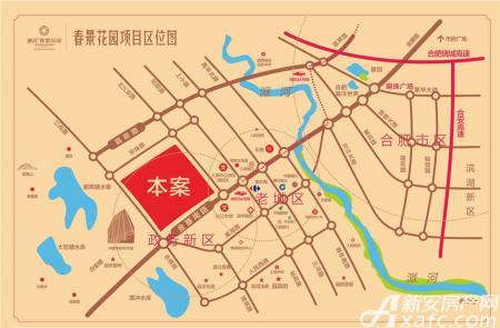 城改春景花园交通图