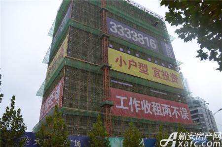 文汇中央广场工程进度