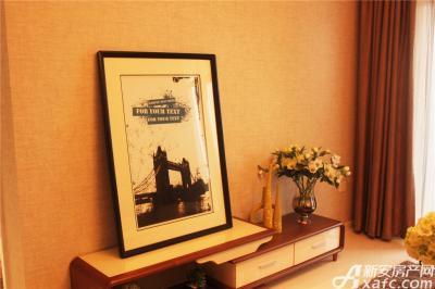 高速铜都天地K2户型样板间客厅背景墙