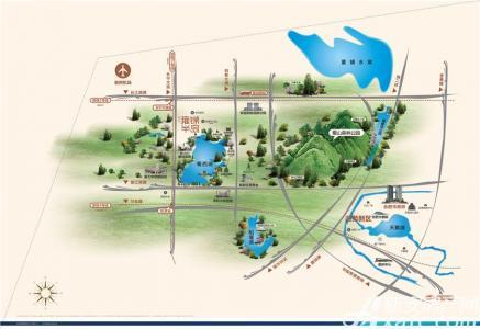蓝光雍锦半岛交通图