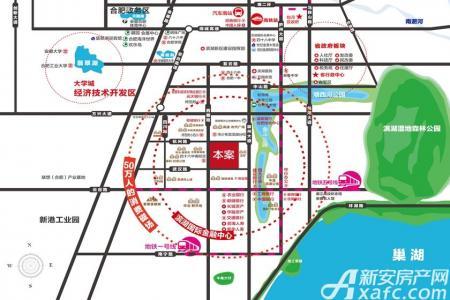 滨湖东方汇交通图