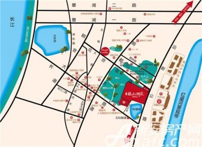 地矿龙山湖苑交通图