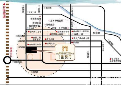 冠景凯旋门交通图