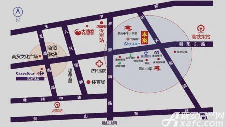 朝阳雅园交通图