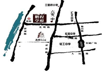 梦园鹏程学府交通图