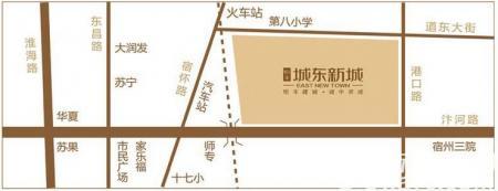 恒丰城东新城交通图