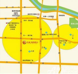 中盛凤凰假日交通图