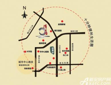 得月坊交通图