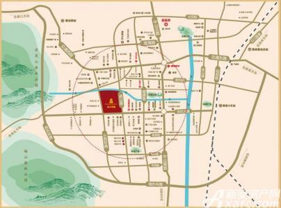 虎山一号交通图