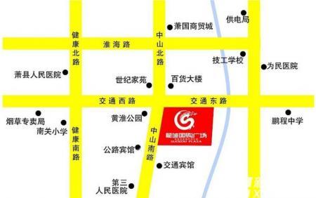 龙城国购广场交通图