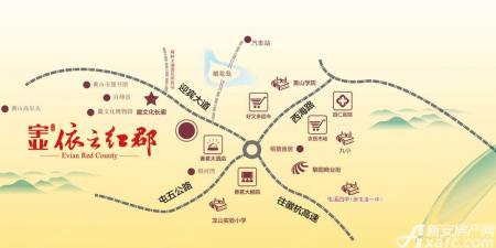 宇业依云红郡交通图