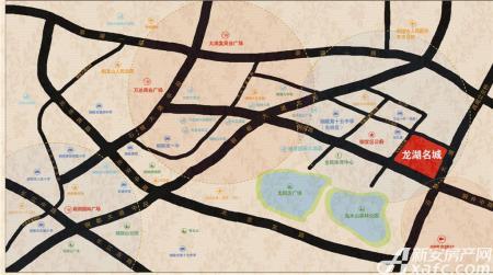 龙湖名城交通图