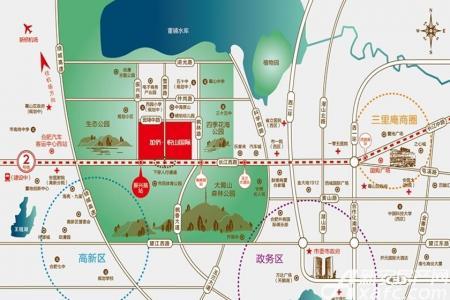 加侨悦山国际交通图