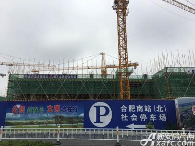 绿地中央广场工程进度