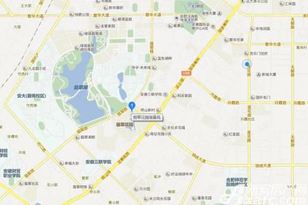 翡翠花园湖景苑交通图