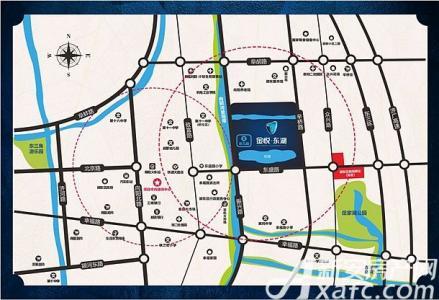 金悦东湖交通图