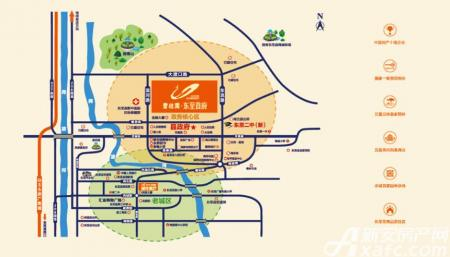 碧桂园·东至首府交通图